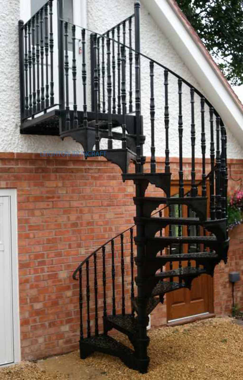 Leighton ironcraft for Victorian spiral staircase